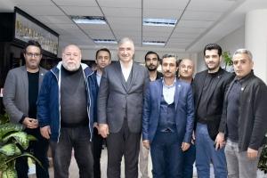Adıyaman'da KGY Cemiyetinden Başkan İbrahim Yusuf Turanlı'ya hayırlı olsun ziyareti